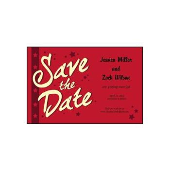 Save the Date - Red Stars