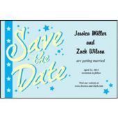 Light Blue Stars Save The Date