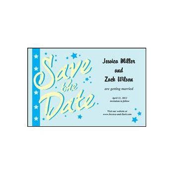 Save the Date - Light Blue