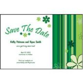 Green Stripes Save The Date