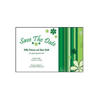Save the Date - Green Stripes