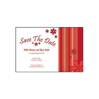 Save the Date - Red Stripes
