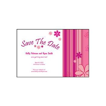 Save the Date - Pink Stripes