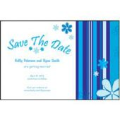 Blue Stripes Save The Date