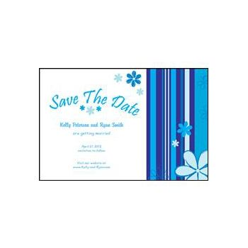 Save the Date - Blue Stripes