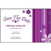 Purple Stripes Save The Date