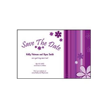 Save the Date - Purple Stripes