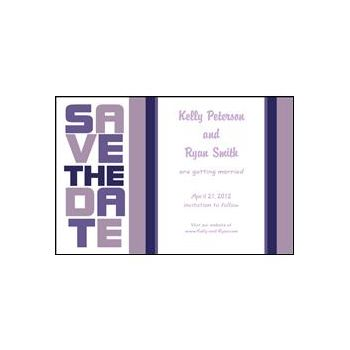 Stacked Save the Date - Purple