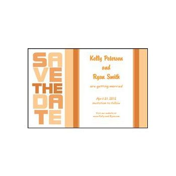Stacked Save the Date - Orange