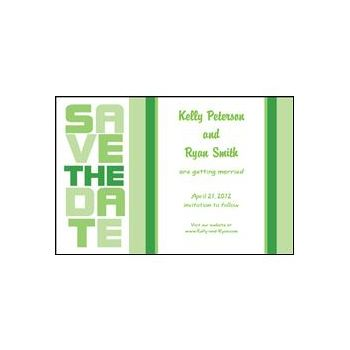 Stacked Save the Date - Green