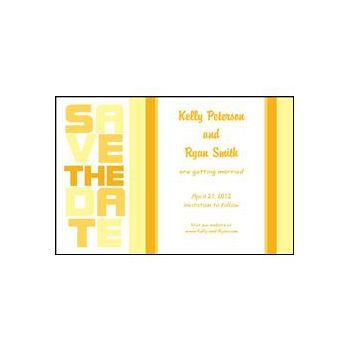 Stacked Save the Date - Yellow