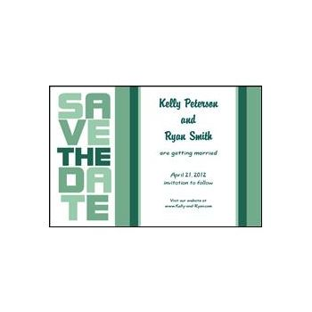 Stacked Save the Date - Mint Green