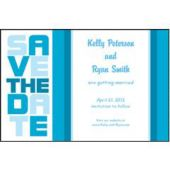 Ocean Blue Stacked  Save The Date