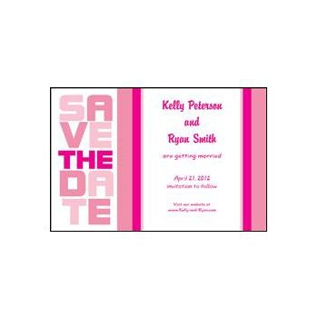 Stacked Save the Date - Pink