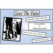 Baby Blue Square  Save The Date