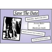 Lavender Square Save The Date