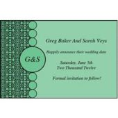 Green Geometric Personalized Invitations