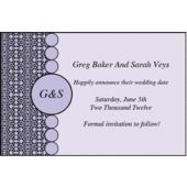 Purple Geometric Personalized Invitations