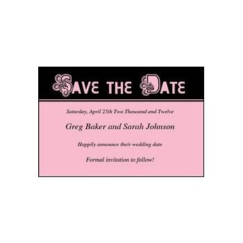Save Date Ornate Pink