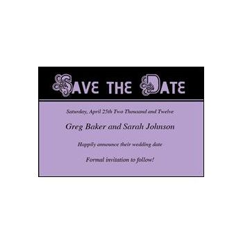 Save Date Ornate Purple