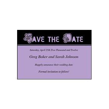 Save Date Ornate Purple