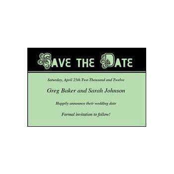 Save Date Ornate Green