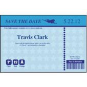 Blue Boarding Pass Save The Date