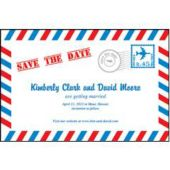 Air Mail Envelope Save The Date