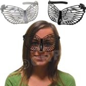 Black & White Butterfly Masks - 12 Pack