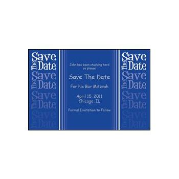 Save Date Fade Blue