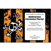 Halloween Stripes  Personalized Invitations