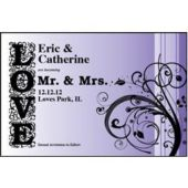 Love In Purple Personalized Invitations
