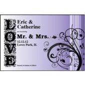 Love In Purple Personalized Invitations