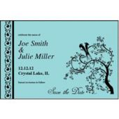 Blue Love Birds Personalized Invitations