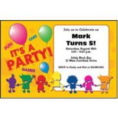 Colorful Party People Personalized Invitations