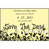 Field Of Flowers Yellow Save The Date