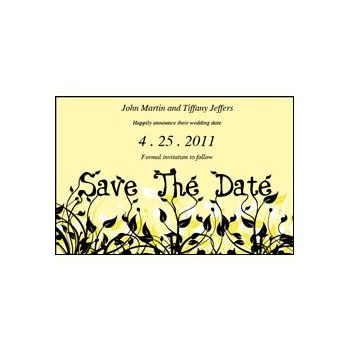 Save Date Flowers Yellow