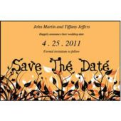 Field Of Flowers Orange Save The Date
