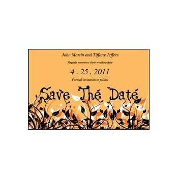 Save Date Flowers Orange
