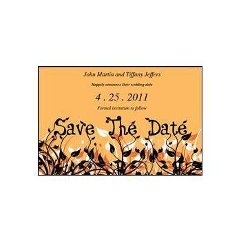 Save Date Flowers Orange