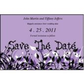 Field Of Flowers Purple Save The Date