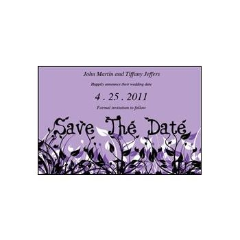 Save Date Flowers Purple