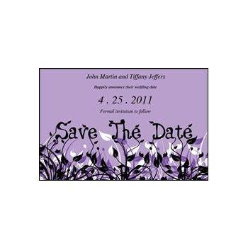 Save Date Flowers Purple