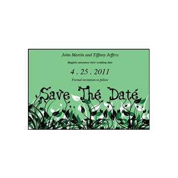 Save Date Flowers Green