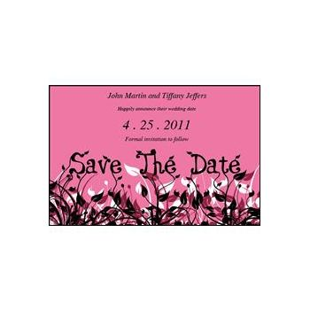 Save Date Flowers Pink