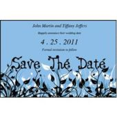 Field Of Flowers Blue  Save The Date