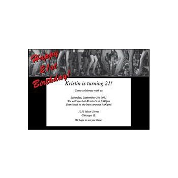 21st Birthday Personalized Invitations