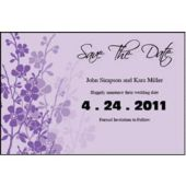 Lavender Garden Save The Date