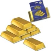 Gold Bar Decorations-6 Pack