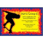 Skateboarder Personalized Invitations